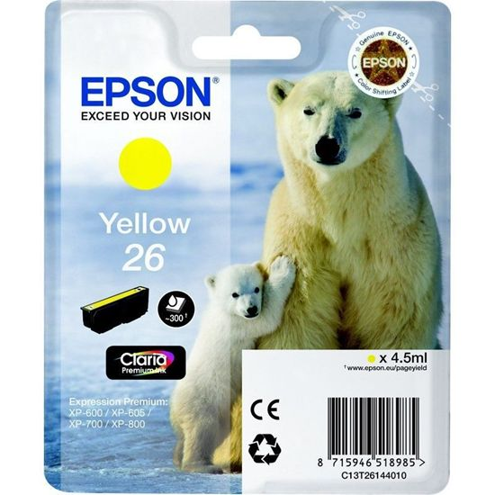 Зображення Картридж Epson 26 XP600/605/700 yellow