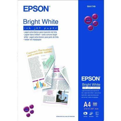 Зображення Бумага Epson A4 Bright White Ink Jet Paper (500 листов, 95г/м2, ярко-белая матовая бумага для печати презентационных материалов с фотографиями среднего разрешения и цветной графикой)