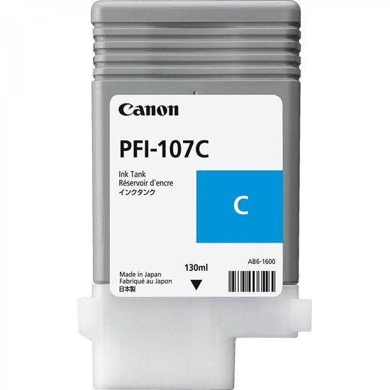 Зображення Картридж голубой (на основе водорастворимых чернил) PFI-107 cyan (iPF680, iPF685, iPF780 и iPF785), 130 ml